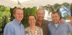 Zusammentreffen Damon Forum Monaco Dr. Dr. Gerd Weinsheimer, Dr. Leonie Weinsheimer-Harms, Dwight D. Damon, Dr. Ronald Harms